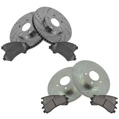 00-05 Lesabre; 00-05 Bonneville Front & Rear Performance Brake Rotor & Metallic Pad Set