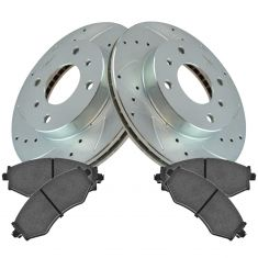 99-01 G20; 93-01 Altima; 00-06 Sentra Front Performance Brake Rotor & Ceramic Pad Set