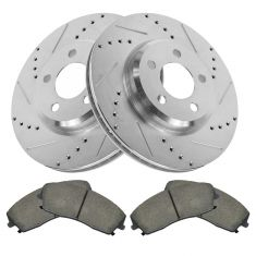 05-10 300; 09-13 Challenger; 06-13 Charger Front Premium Posi Ceramic Pad & Performance Rotor Kit