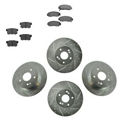 99-03 Acura TL Front & Rear Performance Brake Rotor & Ceramic Pad Set