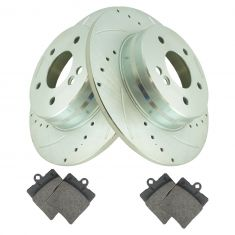 96-11 Mercedes E, CLK, C Series Rear Performance Brake Rotor & Ceramic Pad Set