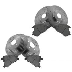 02-13 Altima; 04-08 Maxima Front & Rear Performance Disc Brake Rotor & Ceramic Pair