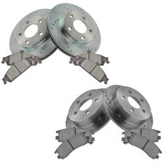 99-04 Alero; 99-05 Grand AM Front & Rear Performance Brake Rotor & Ceramic Pad Kit