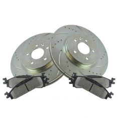 11-13 Explorer; 10-13 Flex; 10-14 Taurus Front Performance Brake & Ceramic Pad Kit