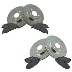 05-10 Ford Mustang w/4.0L Front & Rear Performance Disc Brake Rotor w/ Ceramic Pads