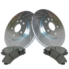 10-14 Lacrosse, Equinox, Terrain Front Ceramic Brake Pad & Performance Rotor Kit