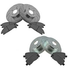03-06 MDX Front & Rear Performance Brake Rotor & Ceramic Pad Kit