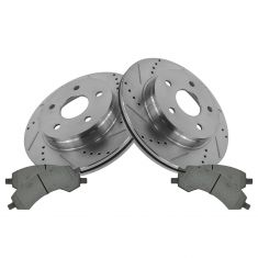07-09 Aspen; 04-09 Durango; 06-10 Dodge 1500 Front Performance Brake Rotor & Ceramic Pad Kit