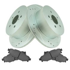 05-09 Legacy 2.5i, Outback Rear Performance Brake Rotor & Ceramic Pad Kit