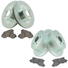 06-09 Legacy, Outback Front & Rear Performance Brake Rotor & Premium Posi Ceramic Pad Kit