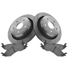 07-09 Aspen; 04-09 Durango;02-13 Ram 1500 Rear Performance Brake Rotor & Ceramic Pad Kit
