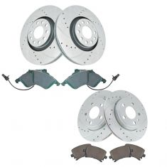 07-09 Audi A4 Front & Rear Performance Brake Rotor & Ceramic Pad Kit