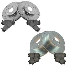 12-14 Toyota Camry Front & Rear Performance Brake Rotor & Ceramic Pad Kit