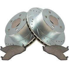 90-98 Cherokee, Wrangler Front Performance Rotor & Metallic Pad Kit