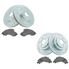 05-09 Legacy Front & Rear Performance Rotor & Ceramic Pad Kit