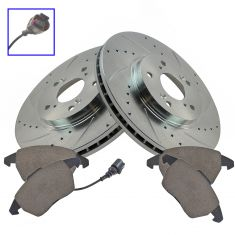 05-07 Jetta;06-08 A3 Front 312mm Performance Brake Rotor & Ceramic Pad Kit