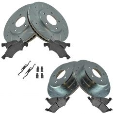 01-07 T&C, Caravan Front & Rear Performance Brake Rotor & Ceramic Pad w/hardware Kit