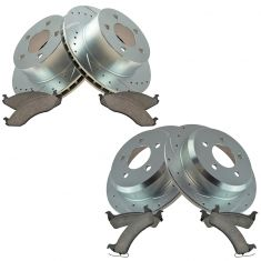 95-98 Jeep Front & Rear Performance Brake Rotor & Ceramic Pad Kit