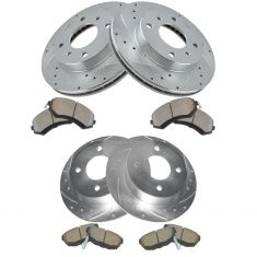 89-96 Nissan 240SX Front & Rear Performance Brake Rotor & Ceramic Pad Kit