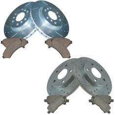 05-09 Lacrosse, Grand Prix, Front & Rear Performance Brake Rotor & Ceramic Pad Kit