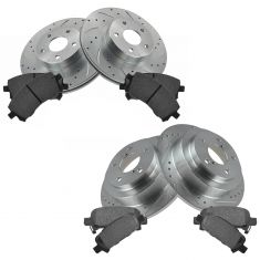 98-02 Forester; 98-01 Impreza Front & Rear Performance Rotor & Posi Ceramic Pad Kit