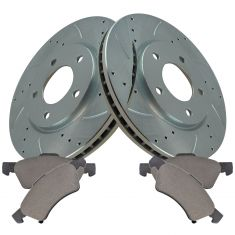 01-07 Caravan Front Performanc Brake Rotor & Semi Metallic Pad Kit