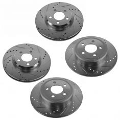 05-13 Dodge Charger Front & Rear Performance Brake Rotor Set