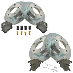 96-99 Audi A4 Front & Rear Performance Rotor & Ceramic Pad w/Hardware Kit