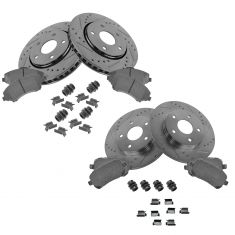 08-11 Caravan Journey Front & Rear Perfomance Brake Rotor & Ceramic Pad w/Hardware Kit
