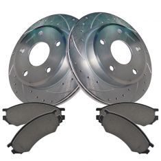 91-02 Saturn SC SL SW Front Performance Brake Rotor & Semi Metallic Pad Kit
