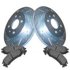 91-02 Saturn SC SL SW Front Performance Brake Rotor & Ceramic Pad Kit