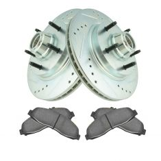 97-99 Ford F150 2WD front Performance rotor & Ceramic Pad Kit