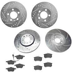 99-08 Beetle; 99-05 Jetta, Golf Front & Rear Performance Brake Rotor & Ceramic Pad Kit