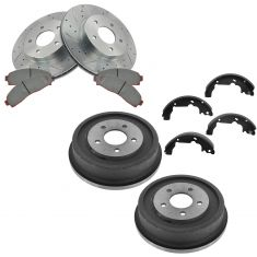 03-07 Saturn Vie; 05-06 Chevy Equinox Front Performance Brake Rotor & Pad Rear Drum & Shoe Kit