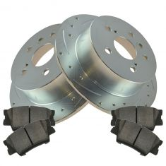 12-14 Toyota Camry; Avalon; ES300H; ES350 Rear Performance Brake Rotor & Posi Ceramic Pad Kit