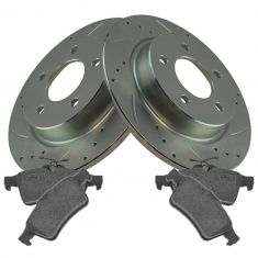 2006-13 Mazda 3 w/3.2L; 10-13 3 w/2.5L Rear Performance Disc Brake Rotor & Semi-Metallic Pad Kit