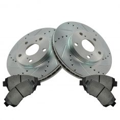 92-96 Lexus ES300; Toyota Camry; 95-97 Avalon; Front Performance Brake Rotor & Posi Metallic Pad Kit