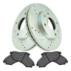 02-05 Hyundai Elantra Front Performance Disc Brake Rotor & Ceramic Pad Kit