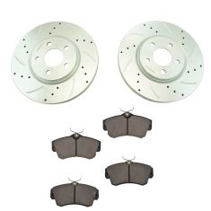 03-05 Dodge Nean SRT; 03-09 Chrysler PT Criser Front Performance Brake Rotor & Ceramic Pad Kit