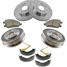 07-08 Chevy Silverado 1500, GMC Sierra 1500 Front & Rear Performance Disc Brake Pad Rotor & Drum Kit