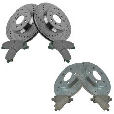 05-09 Lacrosse, Grand Prix, Rear Performance Brake Rotor & Ceramic Pad Set