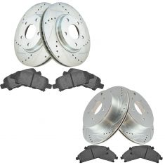 04-09 Nissan Quest Front & Rear Performance Brake Rotor & Ceramic Pad Kit