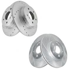 96-07 MB C; 99-09 CLK; 96-02 E; 05-11 SLK Series Front & Rear Performance  Brake Rotor Kit