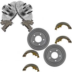 06-03 S10 2WD Front Performance Rotor Ceramic Pad Rear Drum & Shoe Kit