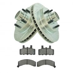 GM Multifit Ceramic Brake Pad & Performance Rotor Kit