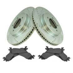 06-10 Ford Explorer; 06-10 Mountaineer Front Posi Ceramic Brake Pad & Performance Brake Rotor Kit