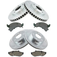 93-97 Chevy Camaro: Pontoac Firebird Front & Rear Posi Ceramic & Performance Brake Rotor Kit