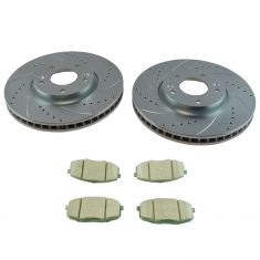 10-13 Kia Forte Front Posi Ceramic Brake Pad & Performance Rotor Set