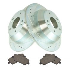 Rear Performance Rotor & Posi Ceramic Pad Kit 10-14 Santa Fe, 11-14 Sorento