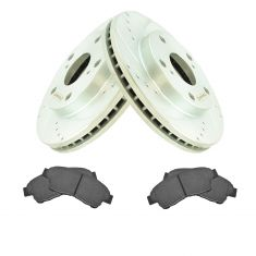 Front Performance Rotor & Ceramic Pad Kit for 92-01 Toyota Camry 2.2L